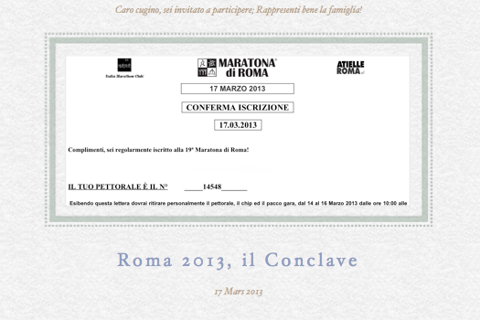 Roma, Conclave 2013