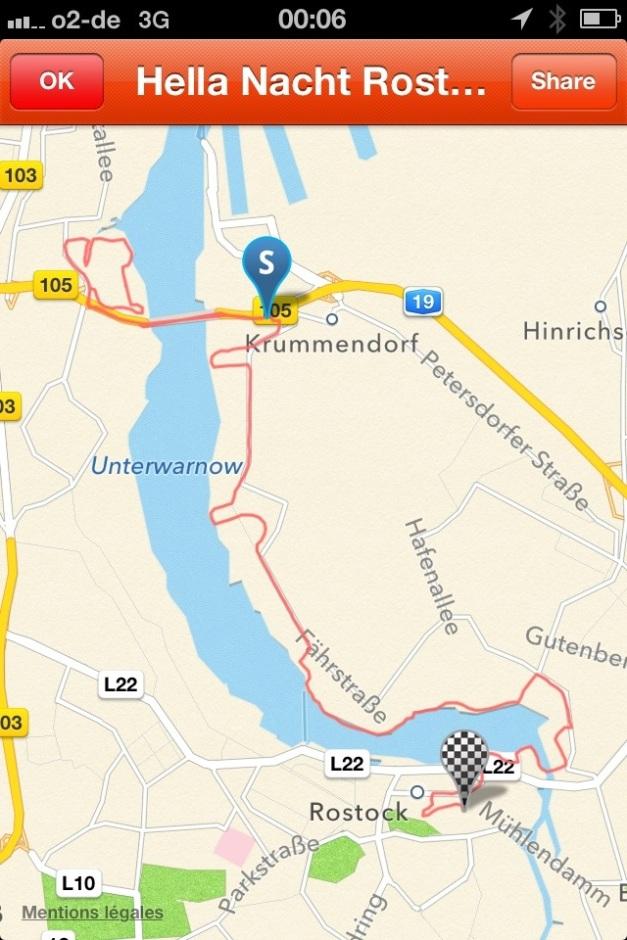 Parcours de long de l'Elbe