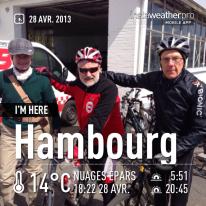Cyclo Blankenese 2013 avec Franz Joseph et Frank