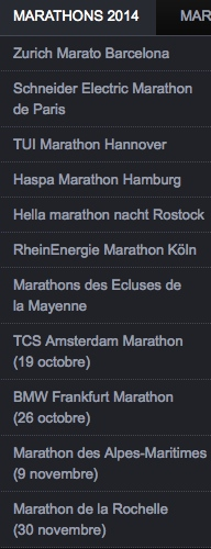 Mon programme d'ici la fin d'année comprend  4 marathons