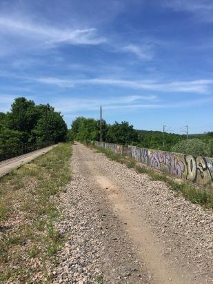 L'ancienne voie de chemin de fer